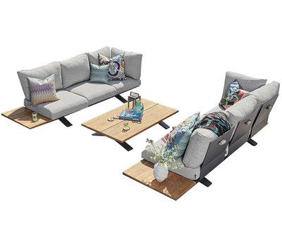SUNS SUNS Stockholm sofa loungeset 3 delig light anthracite mixed weave / matt royal grey