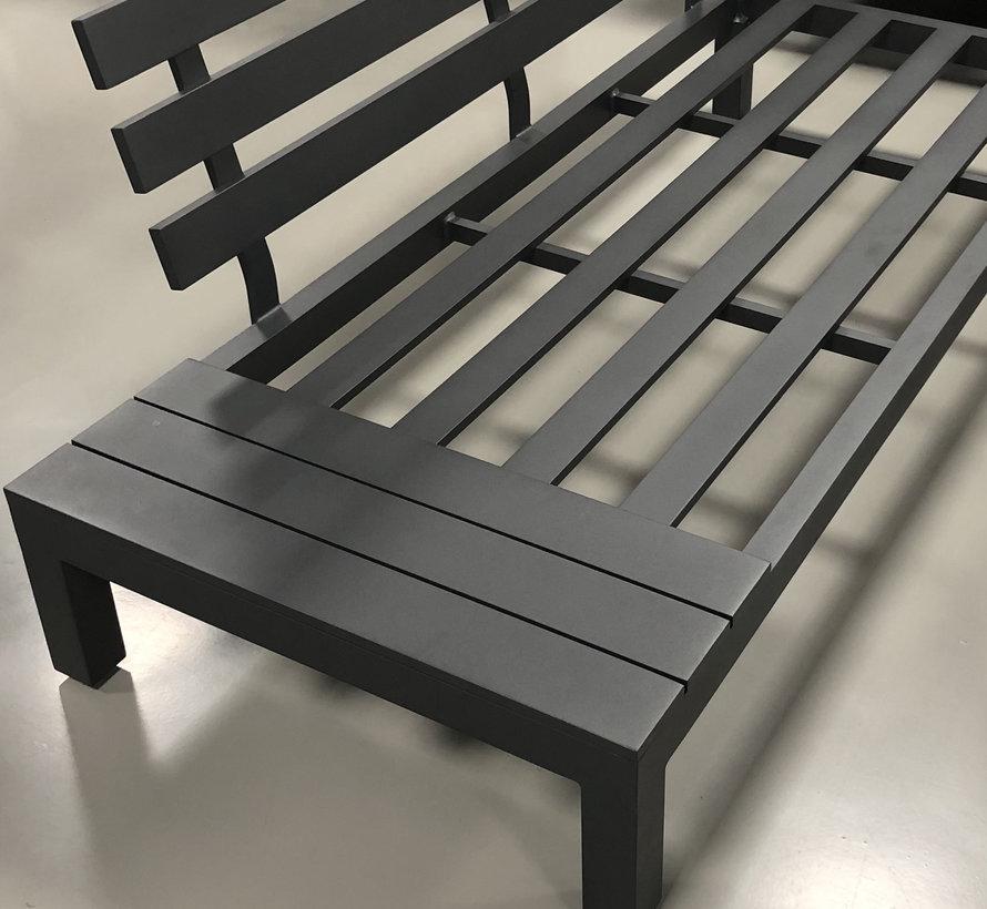 SUNS Vita chaise longue loungeset links 3 delig wased grey / matt royal grey
