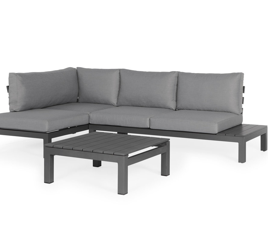 SUNS Vita chaise longue loungeset rechts 3 delig wased grey / matt royal grey