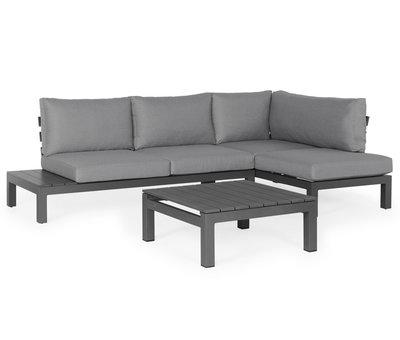 SUNS SUNS Vita chaise longue loungeset links 3 delig wased grey / matt royal grey