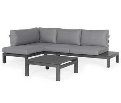 SUNS SUNS Vita chaise longue loungeset rechts 3 delig wased grey / matt royal grey