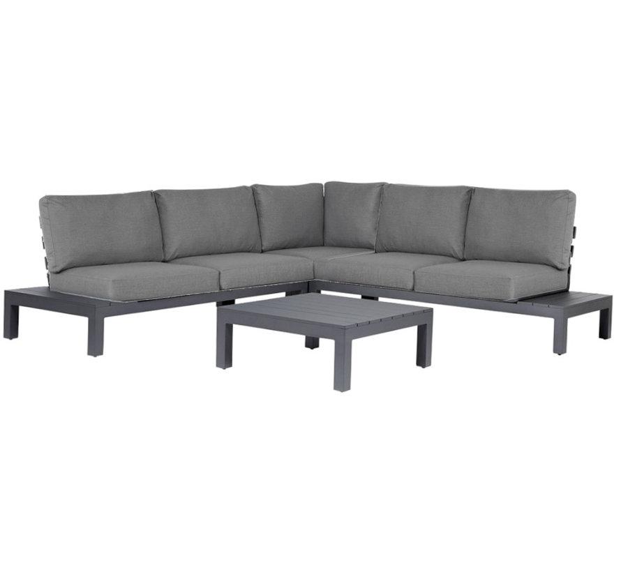 SUNS Vita hoek loungeset 4 delig wased grey / matt royal grey