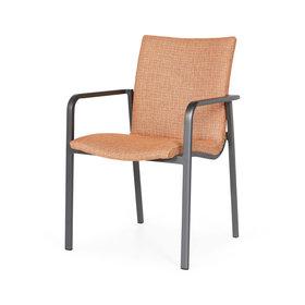 SUNS SUNS Anzio dining chair matt royal grey/terra coral mixed weave