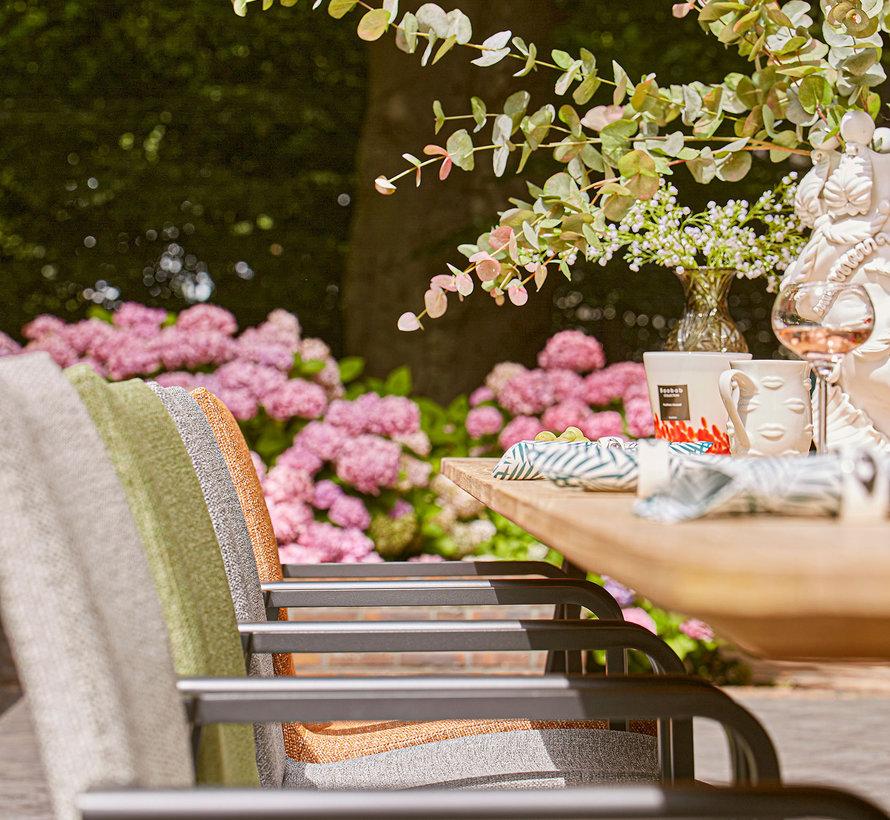 SUNS Anzio dining chair matt royal grey/terra coral mixed weave
