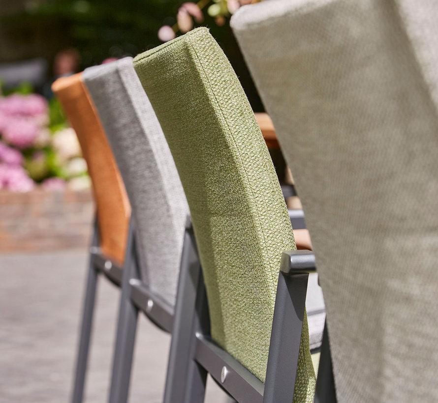 SUNS Anzio dining chair matt royal grey/light anthracite mixed weave