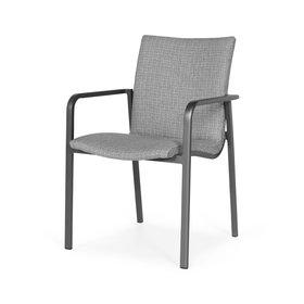 SUNS SUNS Anzio dining chair matt royal grey/light anthracite mixed weave