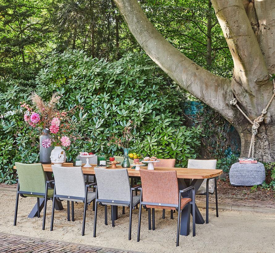 SUNS Anzio dining chair matt royal grey/soft grey mixed weave