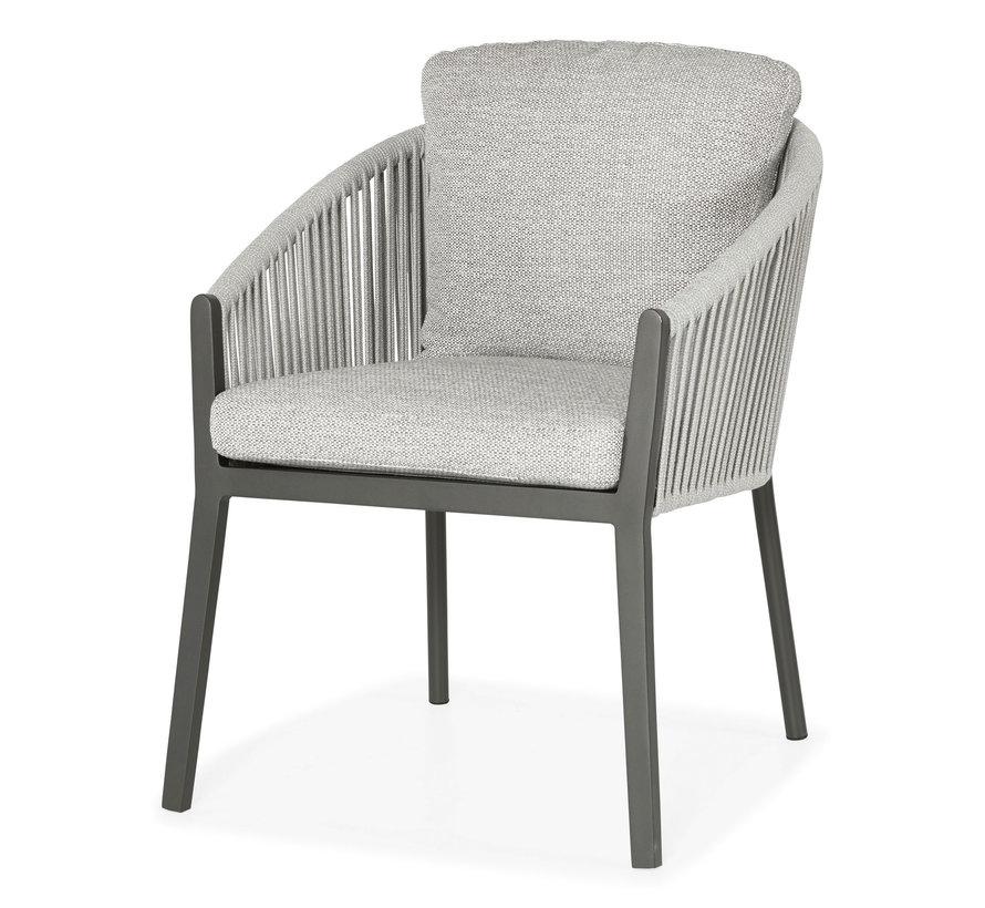 Avero dining chair matt royal grey/carbon grey/l-anthracite mw