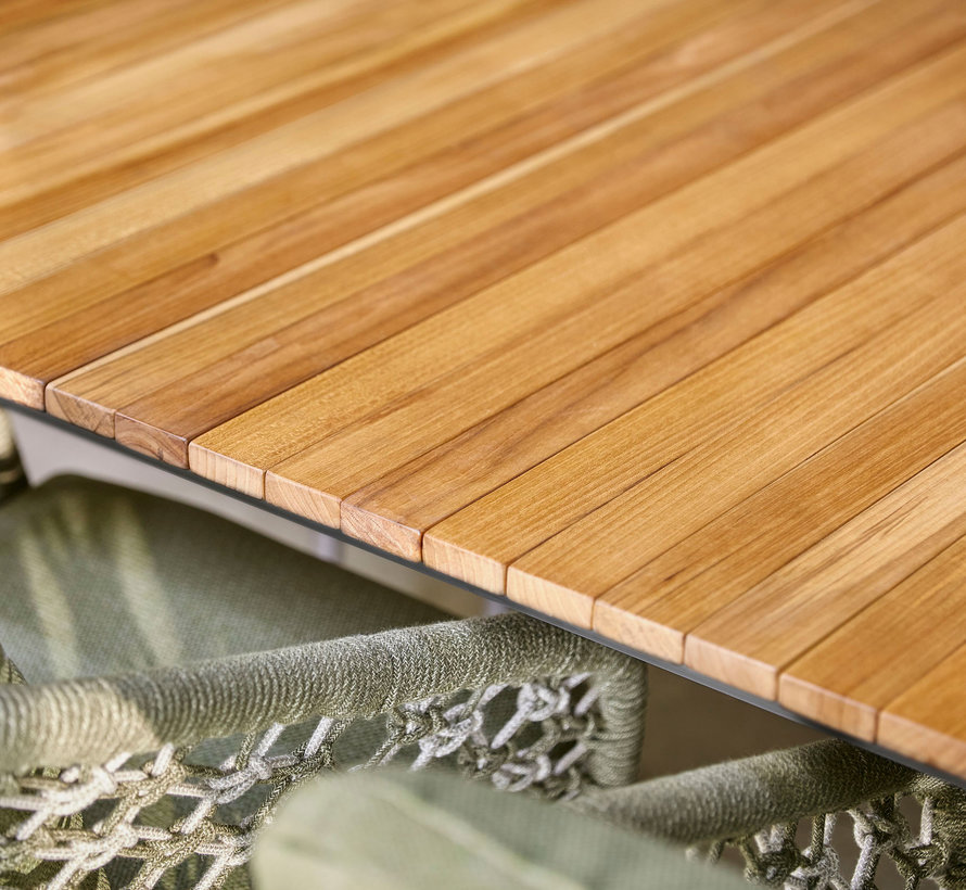 SUNS Rialto uitschuifbare dining tuintafel 212,5-269x100xH75 cm MRG/natural teak
