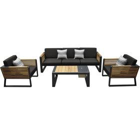 Higold New York stoel bank loungeset 4 delig aluminium Higold