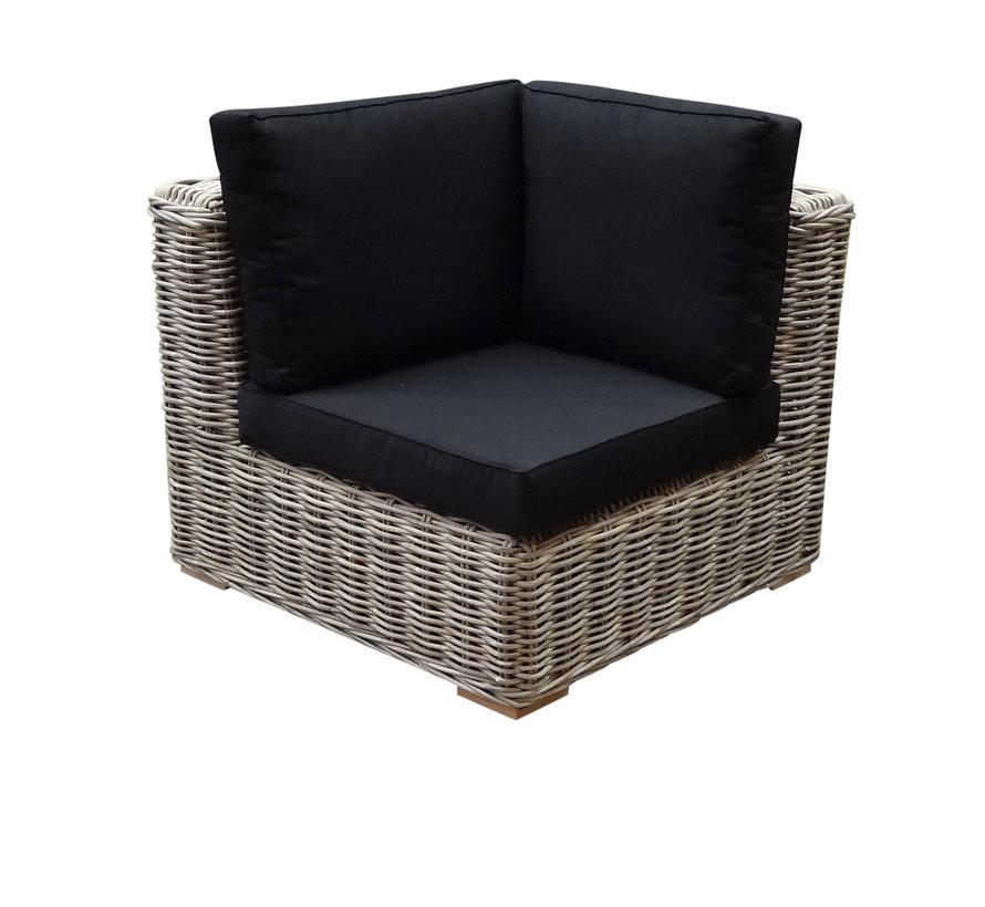 Nissah modulair hoek loungeset 6 delig naturel rotan