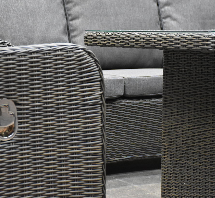 Bilbao premium stoel bank loungeset verstelbaar 4 delig antraciet