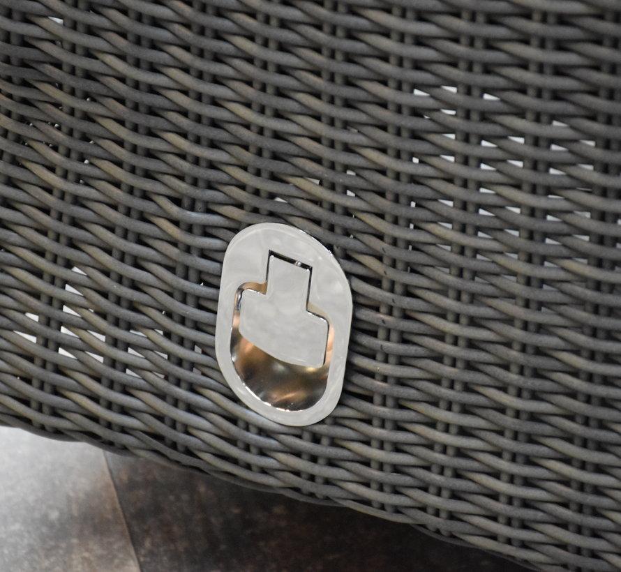 Menorca dining tuinset 220x100xH77 cm verstelbaar antraciet