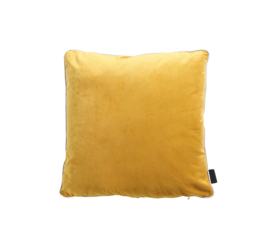 Sierkussen 45x45 cm Velvet yellow