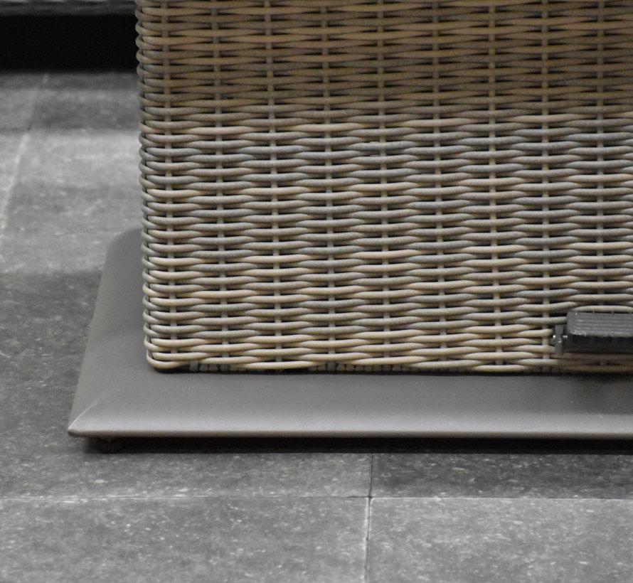 Bilbao dining hoek loungeset 9 delig grijs verstelbare tafel