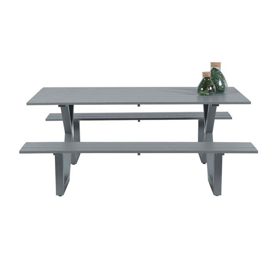 Napels picknick set 180x170xH71 cm grijs