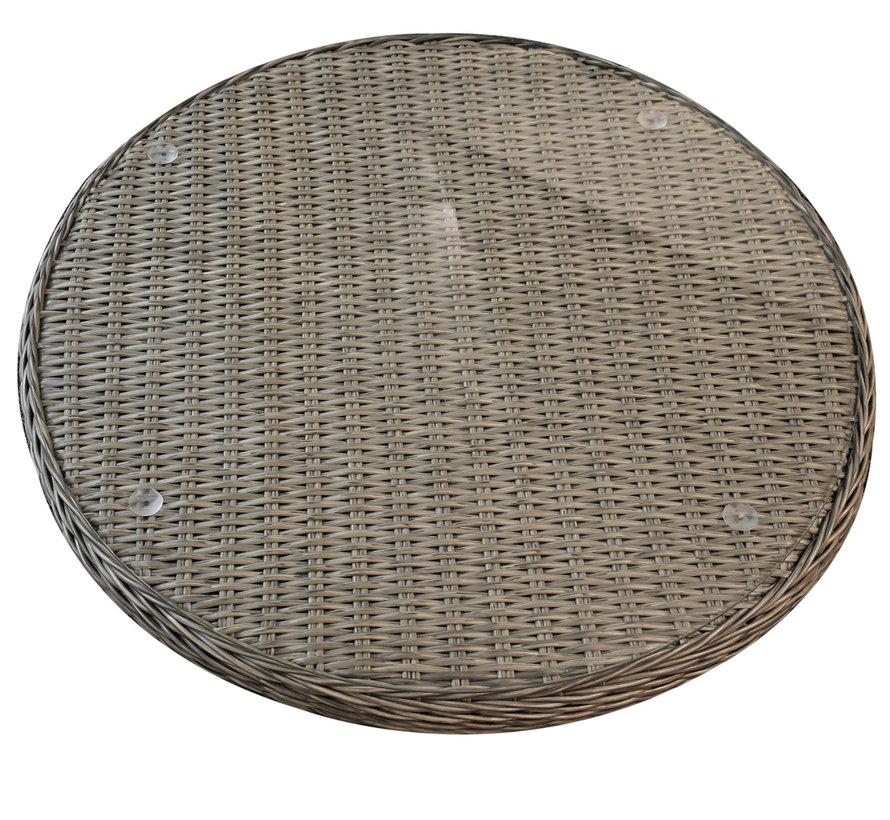 Lazy Susan draaiplateau grijs 70cm doorsnede