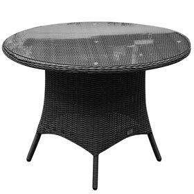 AVH-Collectie Riccione dining tuintafel 110 cm rond antraciet