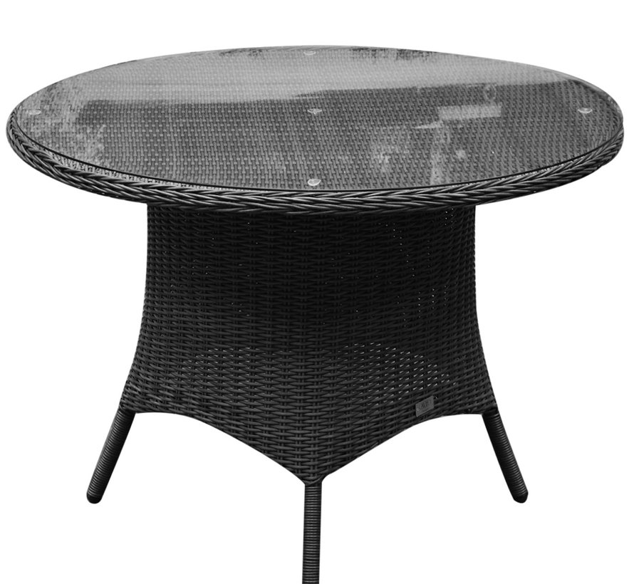 Riccione dining tuintafel 110 cm rond antraciet