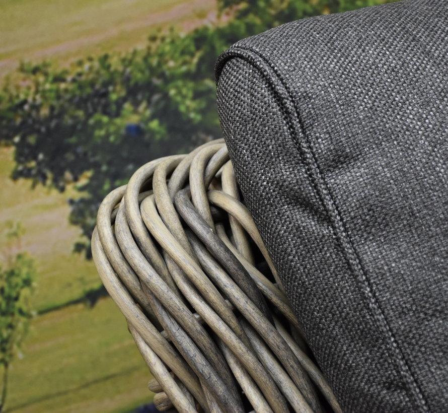 Barakaldo stoel bank loungeset 4 delig bruin grijs wicker