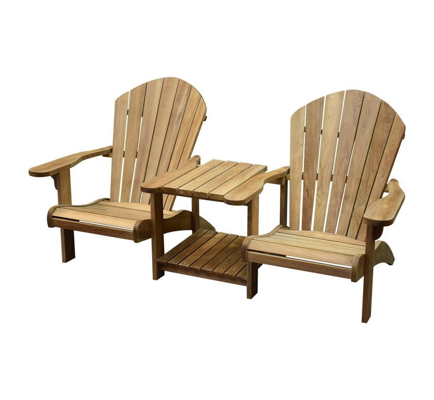 Canadian Twin teakhouten relax set