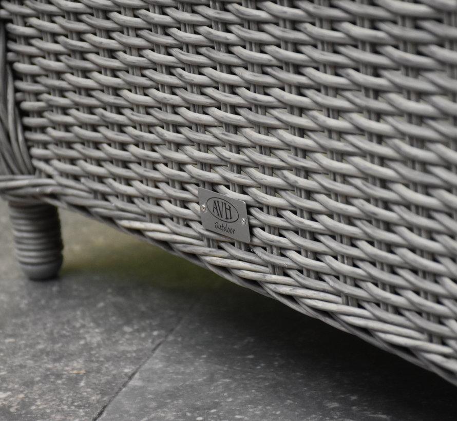 Ibiza voetenbank 64x52xH43 cm grijs