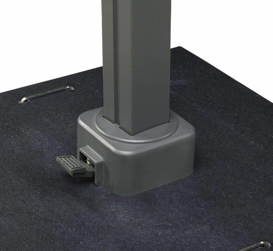 Icon zweefparasol 350x350 cm havanna