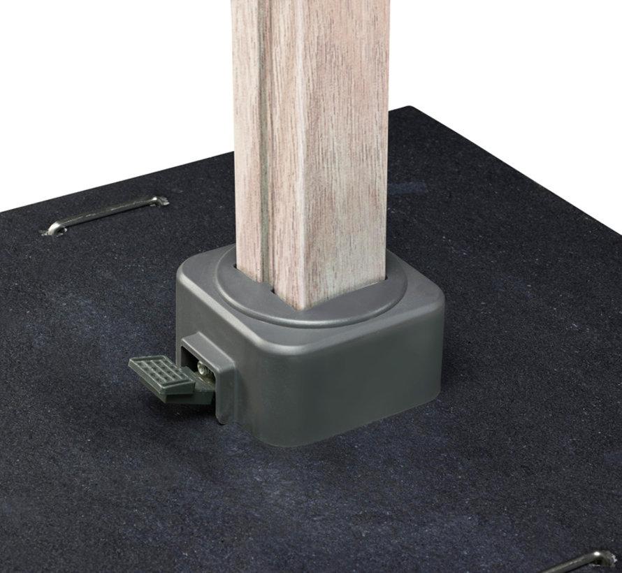 Icon zweefparasol 400x300 cm oak mast faded black