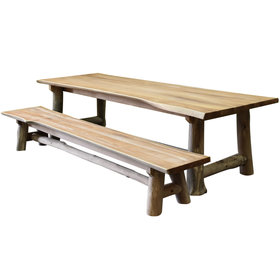 AVH-Collectie Pearl dining tuinset 300x100xH77,5 teak 2 delig