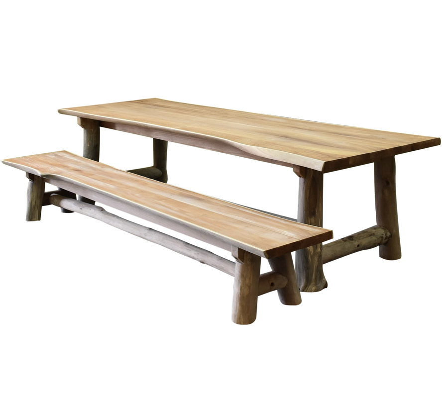 Pearl dining tuinset 300x100xH77,5 teak 2 delig