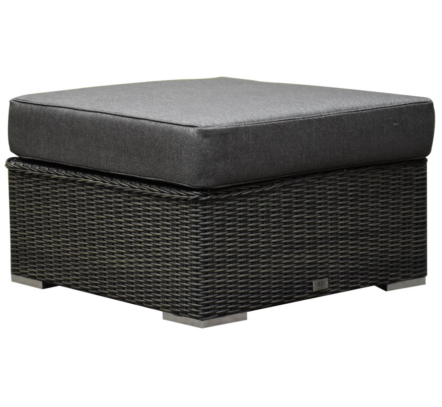 Matino premium voetenbank 78x78 cm antraciet