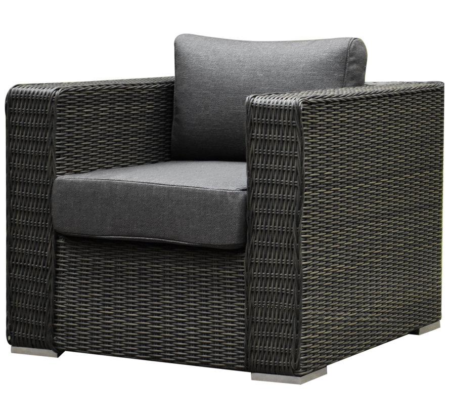 Matino premium chaise longue loungeset 3 delig antraciet