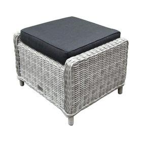 AVH-Collectie Ibiza voetenbank 64x52xH43 cm wit grijs