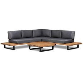AVH-Collectie Boston hoek loungeset 3 delig acacia hout
