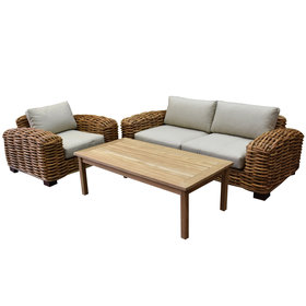 AVH-Collectie Tivoli stoel bank loungeset 3-delig showroommodel