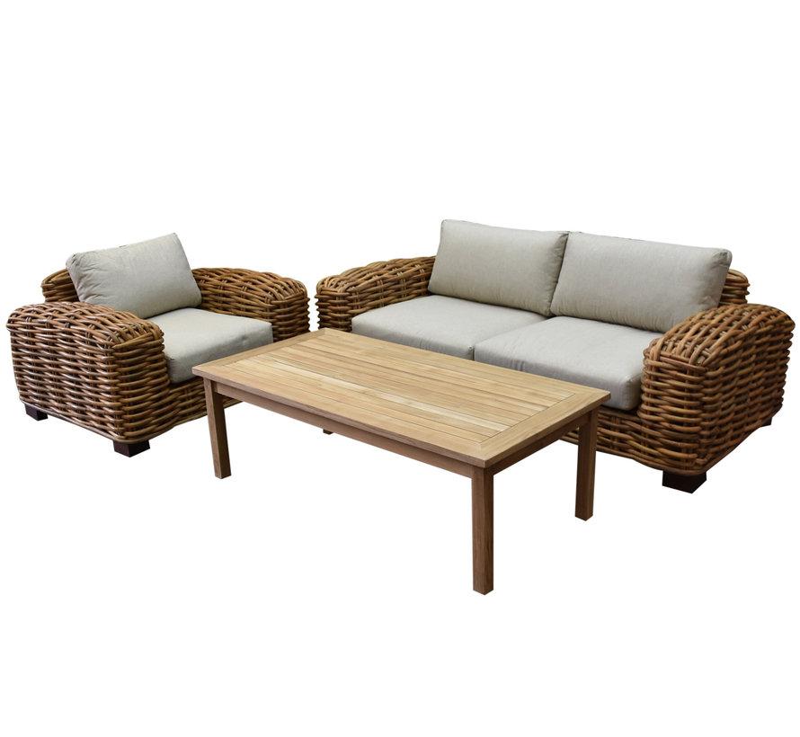 Tivoli stoel bank loungeset 3-delig showroommodel