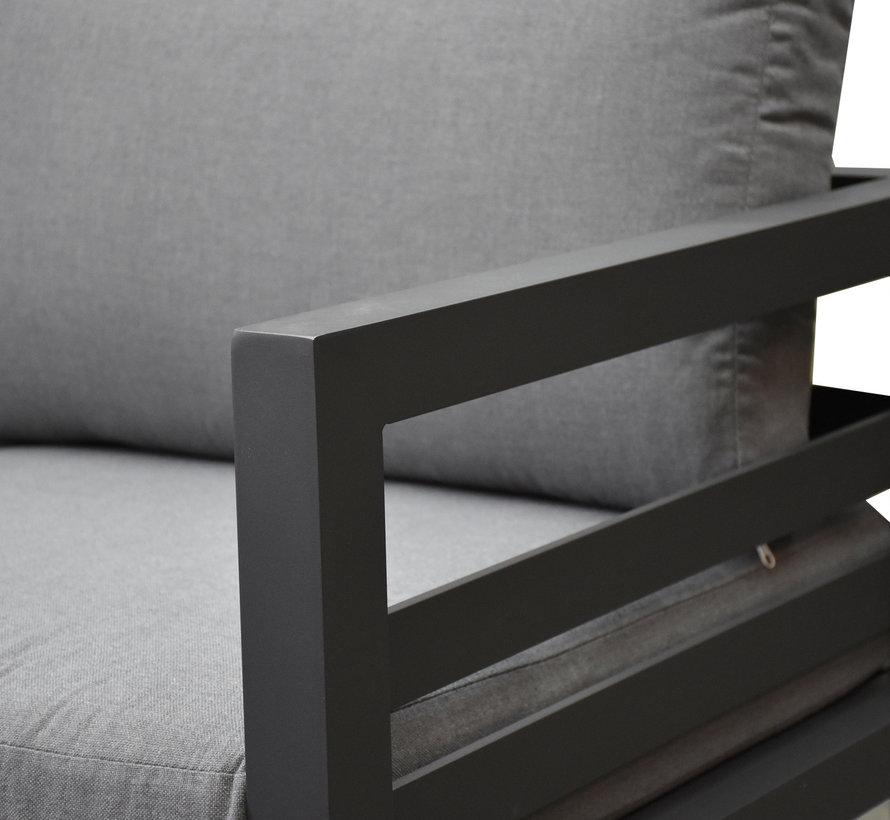 Fabri hoek loungeset 6 delig aluminium antraciet