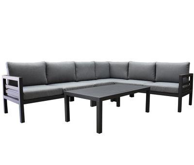 AVH-Collectie Fabri hoek loungeset 5 delig aluminium antraciet