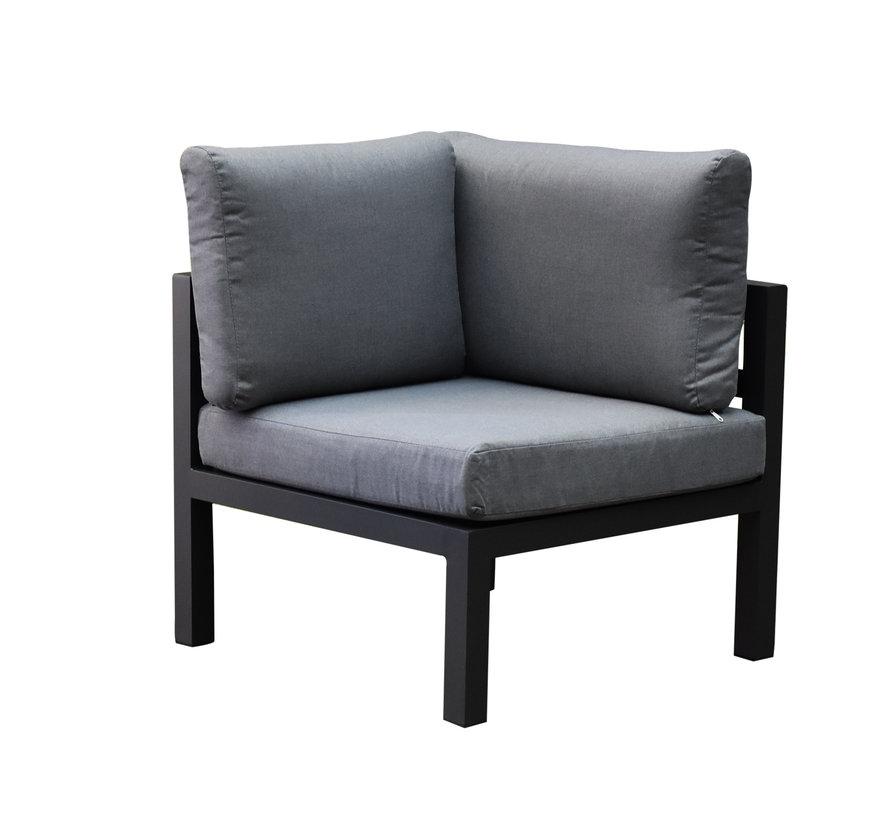 Fabri hoek loungeset 4 delig aluminium antraciet