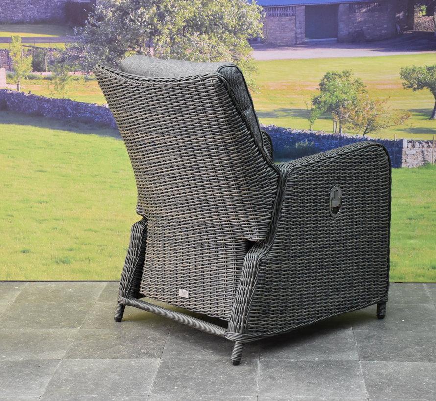 Bilbao premium lounge tuinstoel verstelbaar antraciet