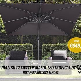 AVH-Collectie Malibu zweefparasol LED 300x300 Tropical deal
