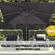Malibu zweefparasol LED 300x300 Tropical deal