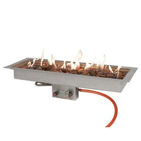 EasyFires Easyfires inbouwbrander rechthoek 76x26 cm RVS