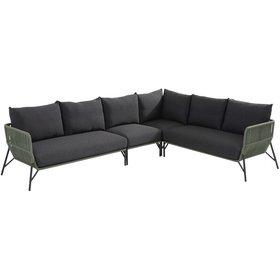 Taste 4SO Showroommodel Antara modulair hoek loungeset 4 delig groen rope