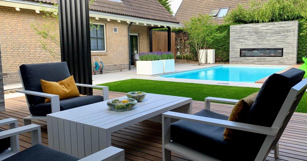 Een tuin vol luxe