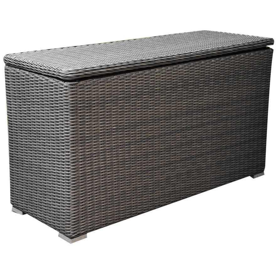 Kussenbox klein 126x47xH71 cm grijs antraciet