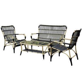 AVH-Collectie Tahiti stoel-bank loungeset 4-delig