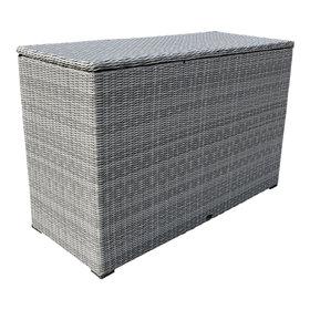 AVH-Collectie Kussenbox groot 167x70xH106 cm wit grijs
