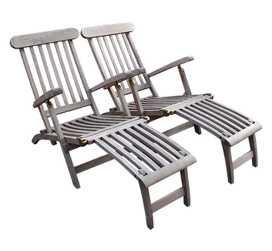 Deckchair set van 2 showroom