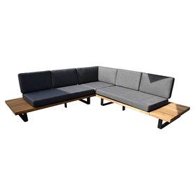 AVH-Collectie Showroommodel Barbados hoek loungeset 2-delig aluminium antraciet